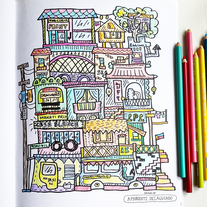 """Home is where the heart is"" drawing by Aphro Delaguiado"