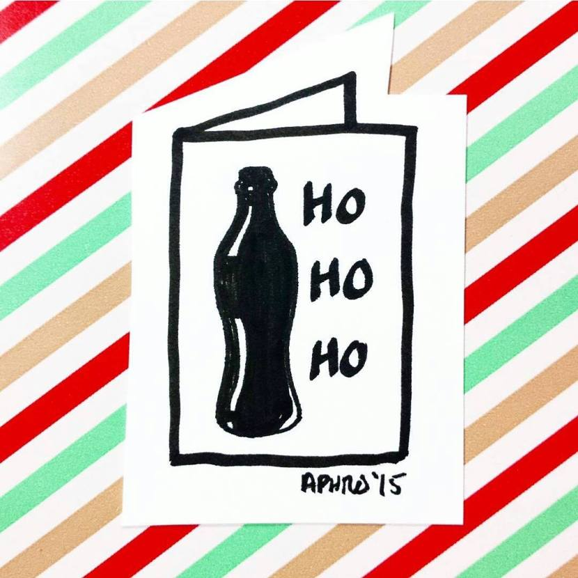 Honest Christmas Cards artwork by Aphrodite Delaguiado.