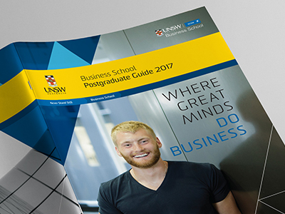UNSW Business School Postgraduate Guide 2017 design by Aphrodite Delaguiado